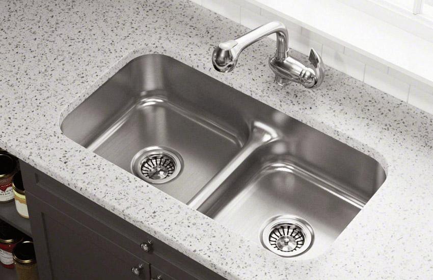 سینک ظرفشویی دو لگنه با سایز متفاوت