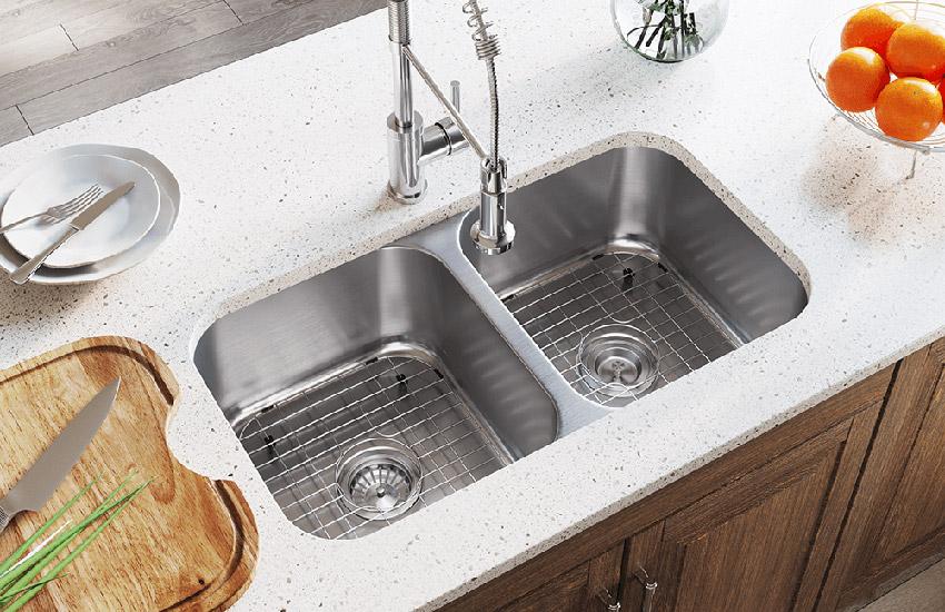 سینک ظرفشویی دو لگنه با سایز یکسان