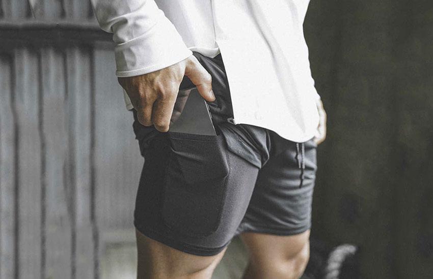لباس مناسب برای دویدن - شورت جیبدار